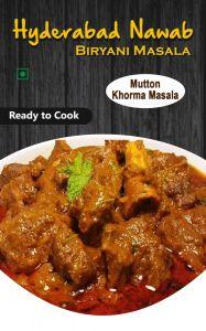 Hyderabad Nawab Biryani for Delicious Tastes & Aroma Masala Mutton Khorma Masala (Pack of 1)