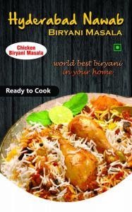 Hyderabad Nawab Biryani for Delicious Tastes & Aroma Masala Chicken Briyani Masala (Pack of 1)