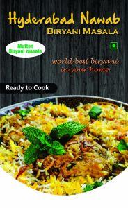 Hyderabad Nawab Biryani for Delicious Tastes & Aroma Masala Mutton Briyani Masala (Pack of 1)