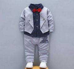 Boy's Cotton Blazer Shirt and Pant Suit Set (Pack of 1)