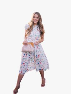 Bagrecha Creations Lizza Western Poli-Rayon Cotton Printed A-Line Dress for Women