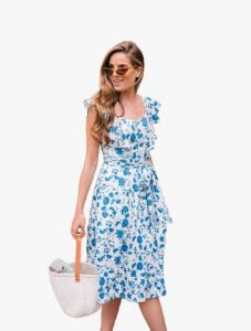 Bagrecha Creations Lizza Western Cotton Printed Maxi Dress for Women