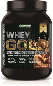 Iso scoop nutrition Whey Gold Protein Powder Chocolate flavored 1 KG Whey Protein  (1 kg, Chocolate)