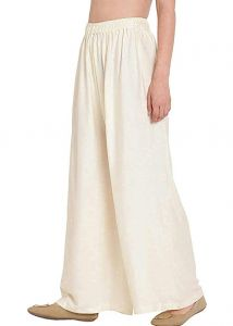 Jazbay Stylish & Fashionable Full Length Elastic Rayon Palazzo For Women In Off White Color (Free Size)