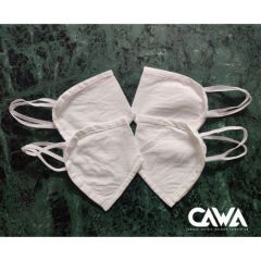 Cawa Double Layered 100% Cotton Light & Easy To Breathe Through Hand-Washable Eco-friendly Plain Cotton Masks (Packs of 8) | (Color: White)