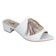 Sakhicollection Women's Casual/Fashionable Open Mule Block Heel Slip-on Sandals & Mules (White)