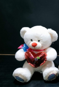 Shree Sai Durga Dhoom Toys | Attractive and Lovable Teddy Bear for Kids | Best Gift For Girls On Birthday Big Teddy Bear (White) (Pack of 1)| Size - 32 cm