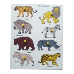Wild Animal Puzzle for Learning Kids (Pack Of 1)
