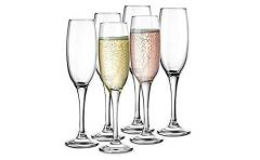 Gently Curved Flute Champagne & Wine Glasses Set (Capacity: 250ml) (Pack of 3)
