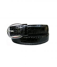 Sakhicollection Black Leather Belt For Women Style-ASS2015FREEBIE (Size: 43)