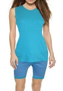 Women's Navigare Cool Aqua Blue Short Set | Blue