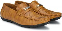 MOSHTO Men's Loafers Shoes | Hand Made Leather Formal/Casual Shoes