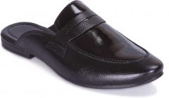 MOSHTO Men's Synthetic Leather Comfortable Mules Casual Sandals - Black
