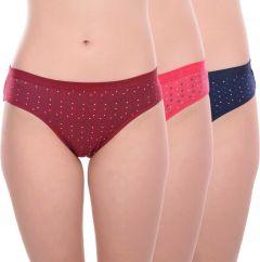Kity Midwaist Hipster Panty (Lycra cotton)   Lycra Star Panty   Pack of 3)