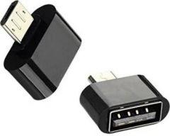 YadavEnterprises Ideal & Best Technology Micro USB OTG Adapter (Black) | (Pack of 2)