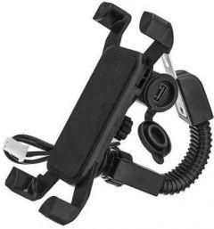 YadavEnterprises X-Grip Motorcycle Bicycle, Bike mount Mobile Phone Cradle Adjustable Handlebar Mount Bike Mobile Holder (Pack of 1)   (Black)