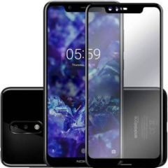 YadavEnterprises Ideal & Strong Edge To Edge Strong Tempered Glass for Nokia 5.1 Plus