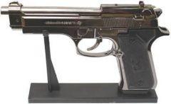 YadavEnterprises Gun Shaped Refillable Cigratte Lighter with Cover Pocket Lighter (Silver) | (Pack of 1)