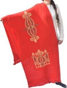 YadavEnterprises Trendy & Fashionable Wool Embroidered Shawl For Women (Pack of 1) | (Red)