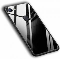 YadavEnterprises Stylish & Strong Back Cover for OPPO F7 (Black) | (Grip Case)