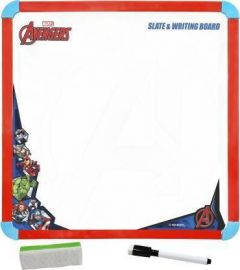 YadavEnterprises Marvel Avengers 2-in-1 Slate & Writing Board with Markers (Multicolor)