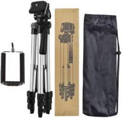YadavEnterprises Portable Adjustable Aluminum Lightweight Camera Stand ( 5 FT ) Tripod Kit  (Black) | (Supports Up to 2500 g)