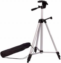 YadavEnterprises Mike and Adjustable Aluminum Portable Lightweight Camera Stand ( 5 FT ) Tripod Kit (Black)   (Supports Up to 1500 g)