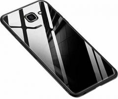 YadavEnterprises Glass Back Case with Shockproof TPU Bumper for SAMSUNG J4 PLUS (WHITE Glass)
