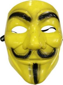PTCMART Yellow V For Vendetta Comic Mask For Party(Multicolor, Pack of 1)
