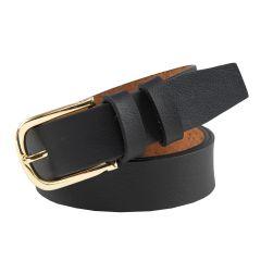 Stylish Casual Genuine Leather Stylish Belt Ideal for Men's (Black)