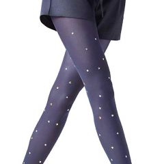 Zephyrs Shinny Studs Polka Dot Designer Tights |One size