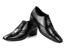 BXXY Height Increasing British Full Brogue Shoes for Men